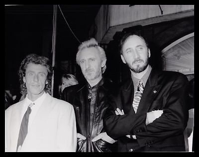 1989 ROGER DALTREY, JOHN ENTWISTLE & PETE TOWNSHEND The Who Original Photo gp