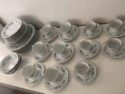 Vintage Noritake Royal Ceramics Marcella 765 fine China Plates Cups Saucers