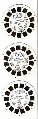 VM51) Viewmaster reels - Superman - 3 reel set