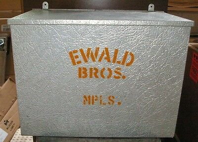 OLD Ewald Brothers Dairy Minneapolis Milk Home Metal Delivery Box