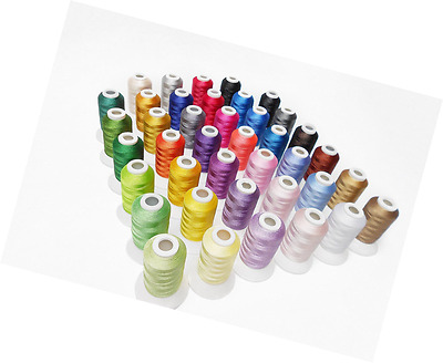 Simthread 40 Brother Colours Polyester Embroidery Machine Thread for Brother Bab