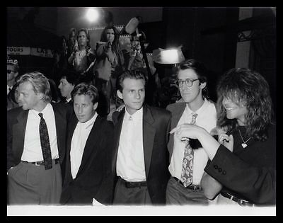 1990 KIEFER SUTHERLAND, CHRISTIAN SLATER & JON BON JOVI Original Photo gp