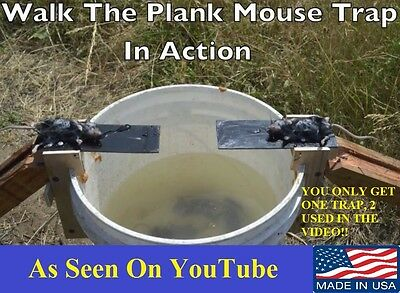 Original Walk The Plank Mouse Trap - Auto Reset-Better Than Log rolling-USA MADE