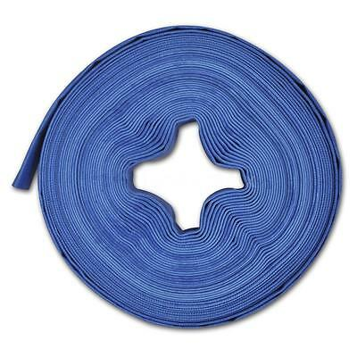 """25 m 1"""" PVC Flat Water Delivery Hose Discharge Pipe Pump Lay Flat Blue Q5T2"""