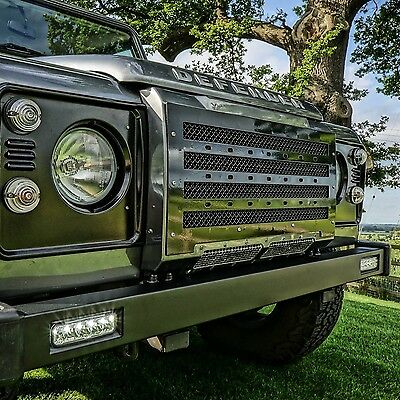 Land Rover Defender Stainless Steel Predator Front Grille - Uproar 4x4