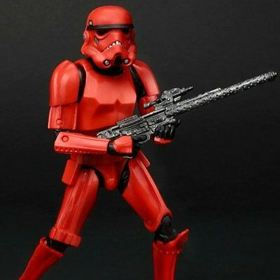 6 Inch Crimson Stormtrooper EE Imperial Forces Set Figure Star Wars TBS ...LOOSE