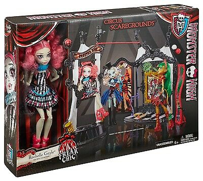 Monster High Freak Du Chic Circus Scaregrounds & Rochelle Goyle Doll Playset