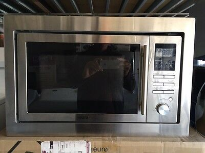 Euro 28 Litre Stainless Steel Built-In Microwave with Grill - Model: ES28MTSX