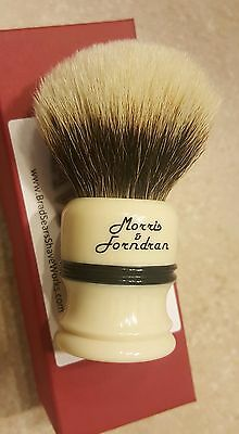 Morris and Forndran Shave Brush 2XL (ivory and ebony)