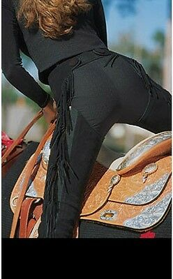 Hobby Horse Adult PMS Split Leather Full Chaps Black Size 1X Long NWT NEW