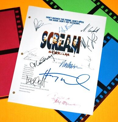 Scream Signed Movie Script Rpt Wes Craven David Arquette, Courteney Cox