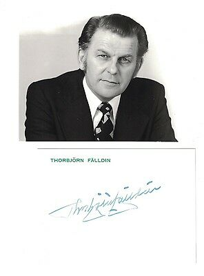 Thorbjorn Falldin Hand Signed Photo+Stationary....Prime Minister Sweden....
