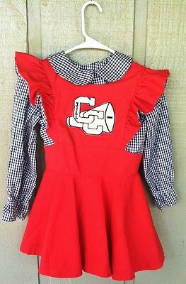 Vintage Girls Cheerleader Outfit