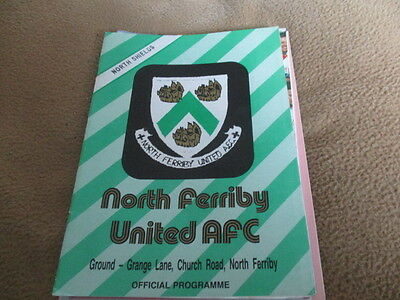 North  Ferriby  Utd  V  North  Shields  1990-1  Cup  Quarter  Final