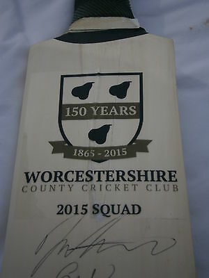 Worcestershire County Cricket Club Signed Bat 150 years