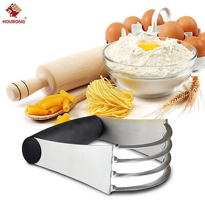Pastry Cutter Stainless Steel - Professional Baking Dough Blender with Blades