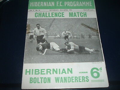 Hibernian v Bolton Wanderers April 1952 friendly