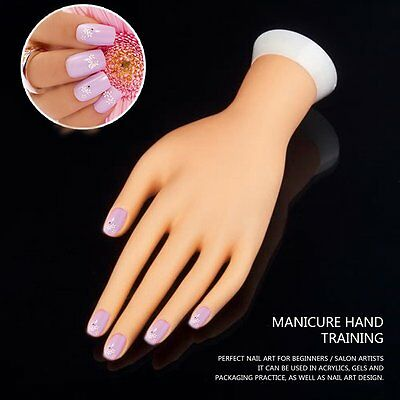Practice Left Hand Model for Nail Art Training and Display Manicure Supply BX