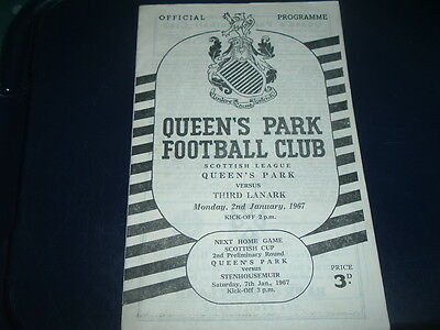 Queens Park v Third Lanark Jan 1967 ( last season Third Lanark )