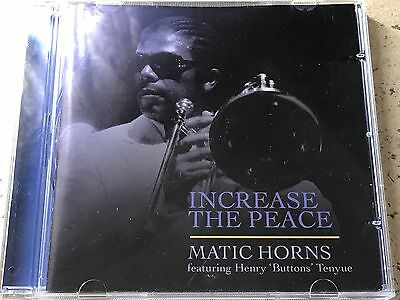 Matic Horns Featuring Henry 'Buttons' Tenyue ‎– Increase The Peace CD