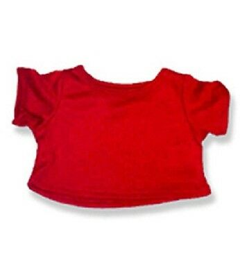 """Red T-Shirt teddy bear clothes fits 15"""" Build a Bear"""