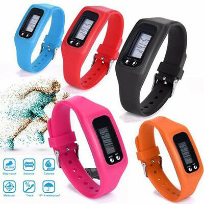 Practical LCD Pedometer Wrist Watch Band Calorie Step Walking Counter Fitness