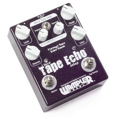 Wampler Faux Tape Echo / Delay With Tap Tempo Guitar Effects Pedal WAM-FTE New