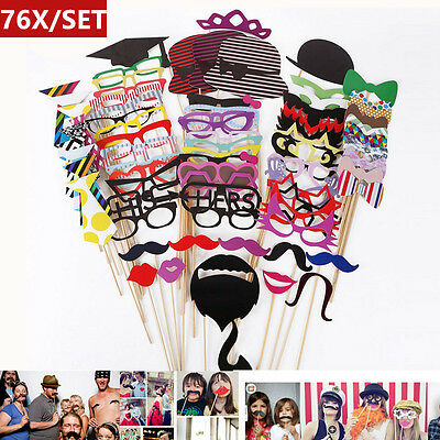 76 Birthday Photo Booth Prop Set Popular Family Parties Decorations