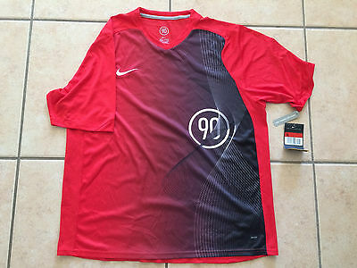 MAILLOT ENTRAINEMENT FOOTBALL NIKE Taille L MC RED TRAINING SHIRT