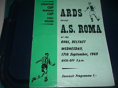 Ards v AS Roma Sept 1969 European Cup Winners Cup