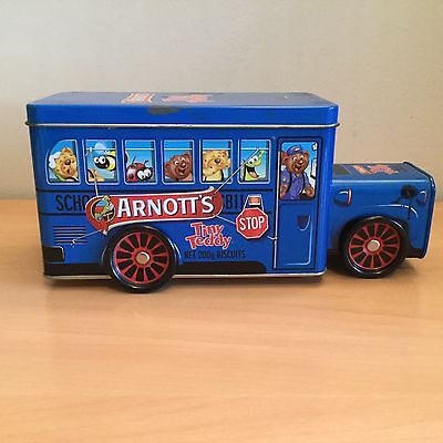 Collectable biscuit tin arnott's tiny teddy 2012