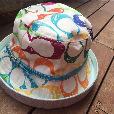Authentic Coach Printed Women's Bucket Hat ***hardly worn, GREAT CONDITION!!!***