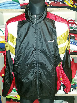 ADIDAS VINTAGE JACKET SIZE L D7 MADE IN HUNGARY TRACKSUIT TOP SHIRT(f811)