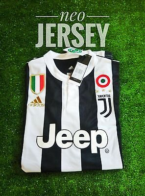 Juventus Home Jersey Kit 2017-2018 with patch serieA, scudetto, coppa itali