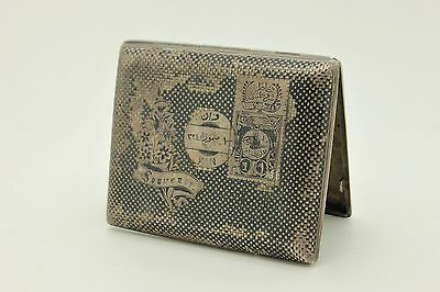 Antique Original Silver Niello Amazing Van Armenian Cigarette Case