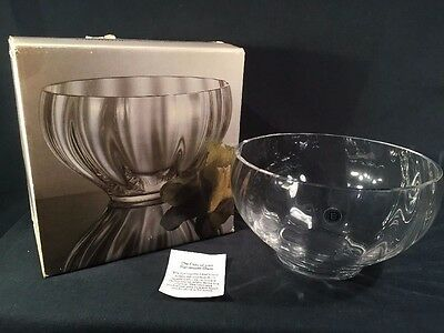 Large Ripple Salad Bowl Dartington Glass (ref B126)