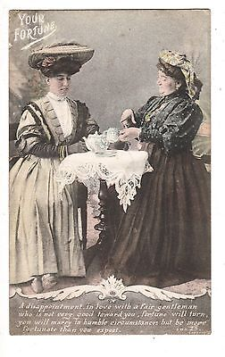 antique postcard YOUR FORTUNE posted Wolverhampton on Valentine's Day 1904