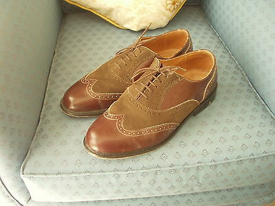 Lace up formal  shoes for men - Brown suede and leather