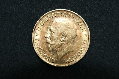 George V 1912 One 22ct Gold Sovereign.
