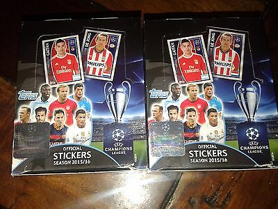 Topps Uefa Champions League 2015-2016  Stickers (100 Packets) 2 Boxes