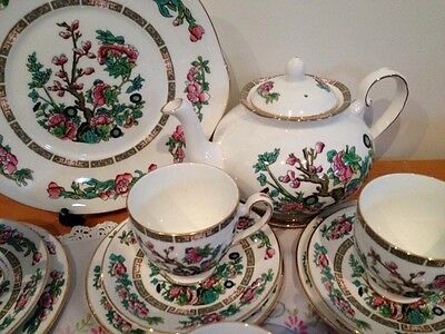 Royal Grafton Vintage Indian Tree Teaset For Six With Teapot