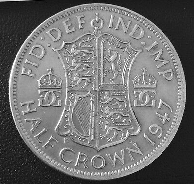 1947 Half Crown George VI. VF. Collectable. Uk Sales Only