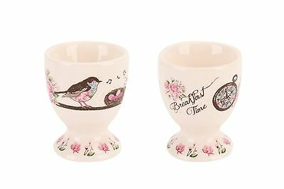 New Vintage Style Sing a Song of Sixpence Bird Posies Ceramic Egg Cup x 1