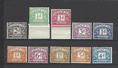 British stamps collection postage due stamps old style mint & good values GB..
