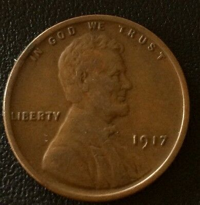 1917 1 CENT Coin. VF . Collectable Uk Sales Only.