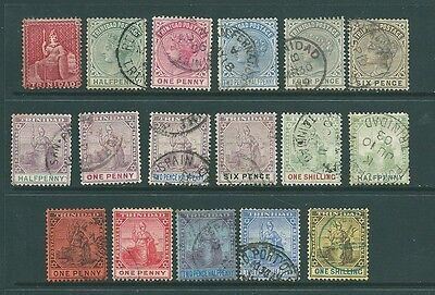 TRINIDAD - A Vintage stamp collection from Queen Victoria onwards to 1 Shilling