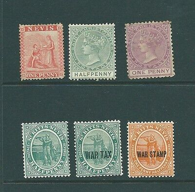 NEVIS, ST CHRISTOPHER & ST KITTS - Mint/Unused collection - Queen Victoria on..
