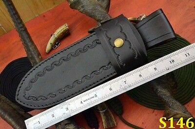 Handmade 100% Leather Hunting Knife Sheath Brown Colour (S146-1-1)