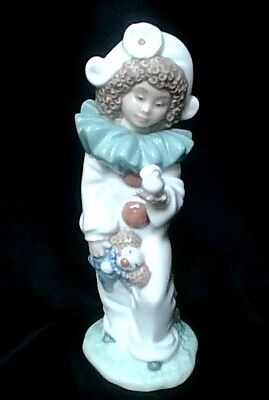 "LLADRO NAO  ""Clown with Doll and Dove""   20cm/8 inch High.  Excellent Condition"""