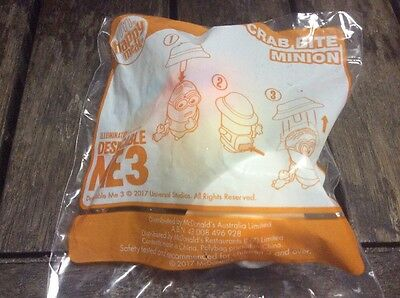 Despicable Me 3 Crab Bite  McDonalds Happy Meal Toy Brand New Minion New In Pack